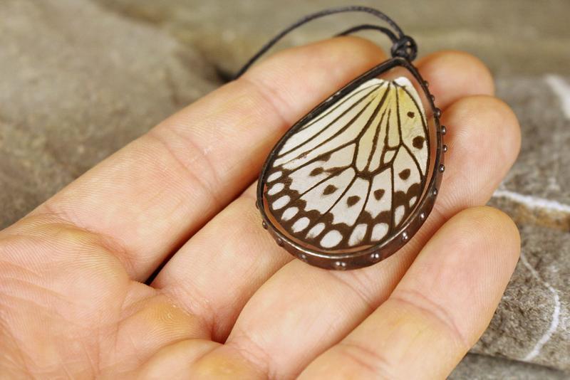 Кулон Крылышко бабочки Уникальный подарок девушке