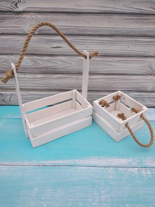 Деревянное кашпо для цветов, Деревянная корзина для цветов и подарочных композиций