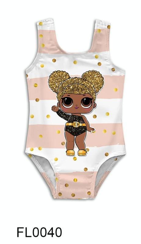 Детский купальник с принтом кукла Лола ручной работы купить в ... 23a942738132e
