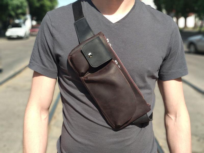 713deed87041 Мужская сумка через плечо (натуральная кожа crazy horse) ручной ...
