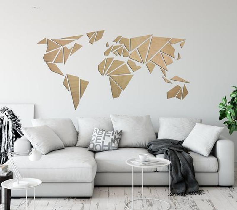 Карта Мира из дерева WoodEarthMap