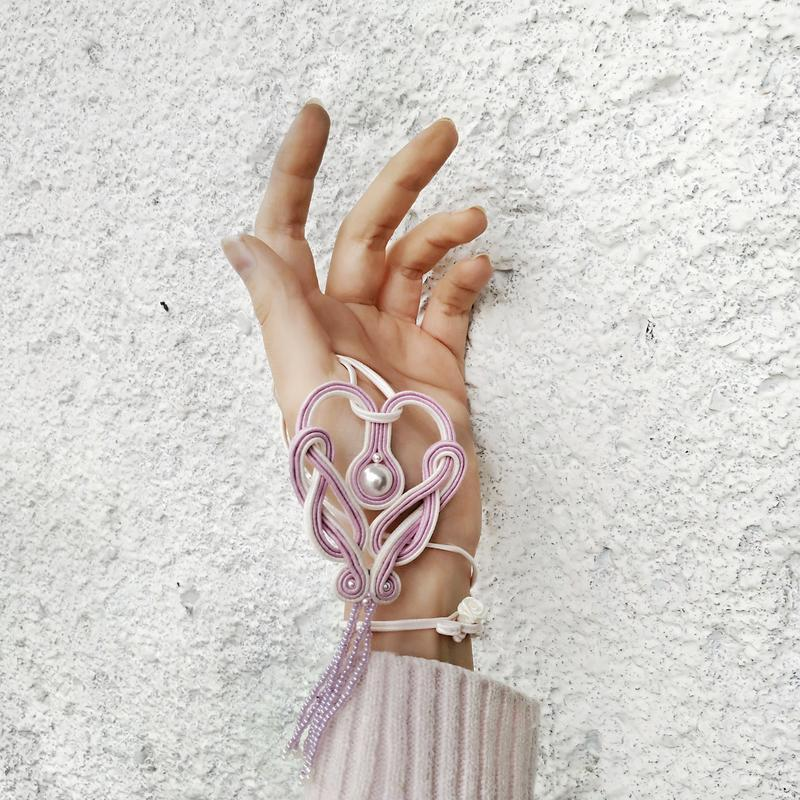 Сутажный кулон-сердце