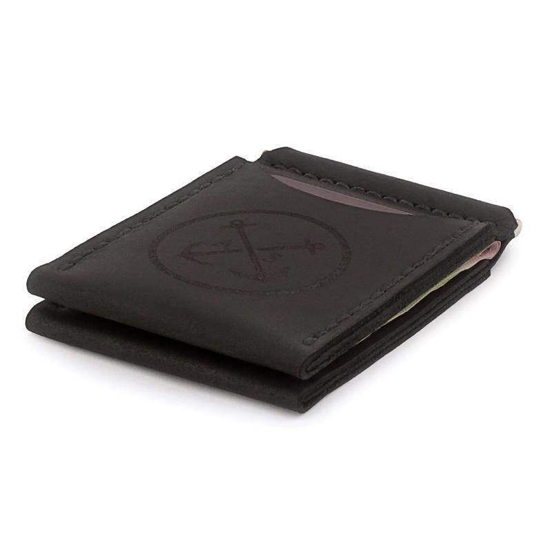 Подарочный набор для мужчины: мужское кожаное Портмоне + Зажим для денег + Коробочка