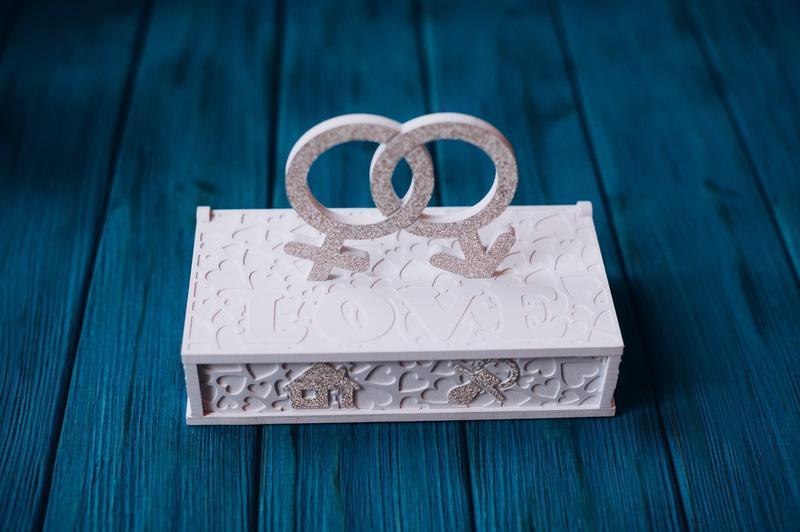 Конверт - шкатулка на свадьбу или годовщину