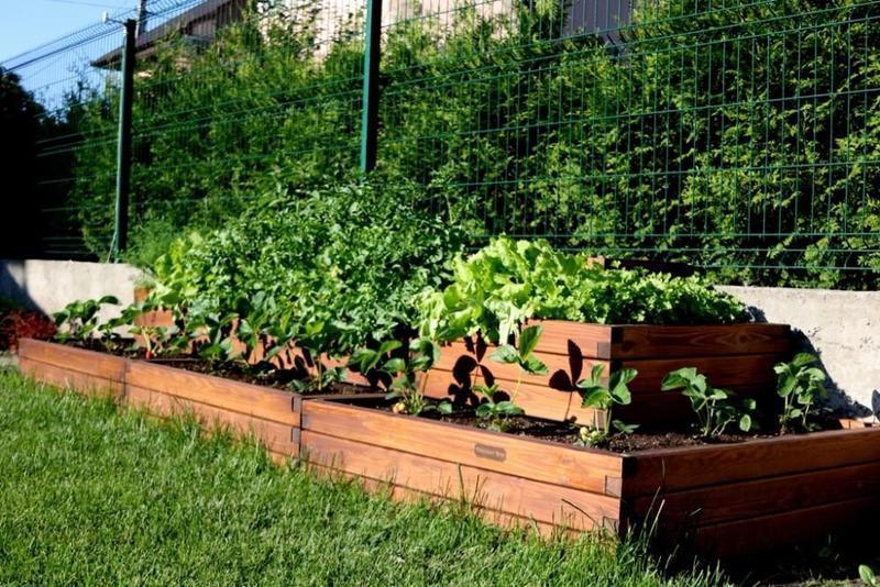 Высокие грядки, боксы ящики для растений, цветов, ограждение для клумб Organic Box