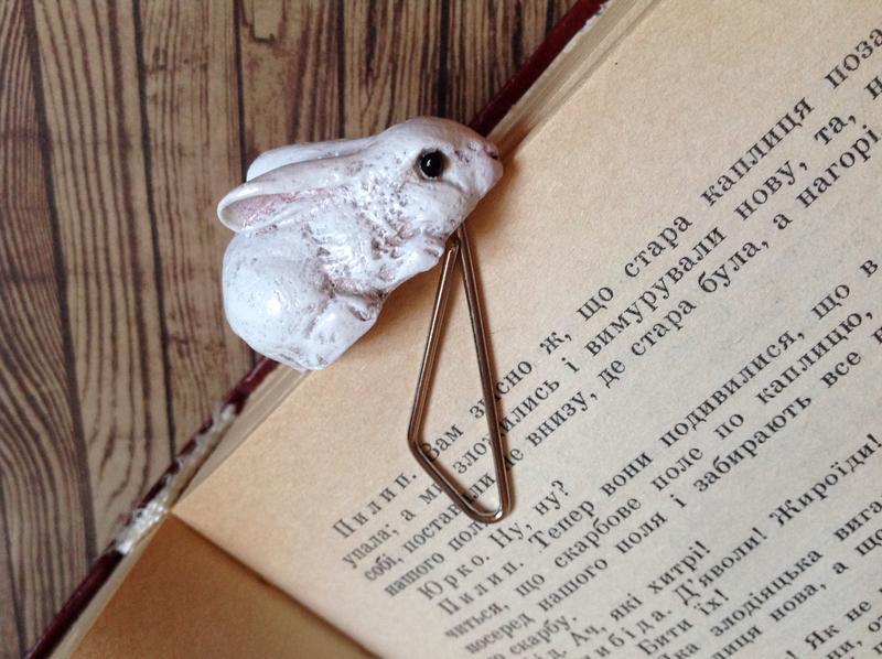 Закладка для книги или блокнота Кролик
