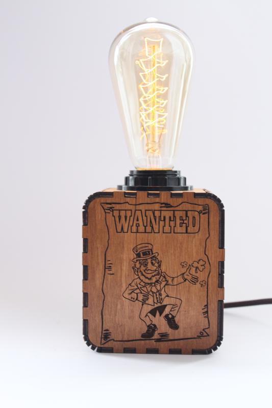 Светильник-ночник с индивидуальной гравировкой