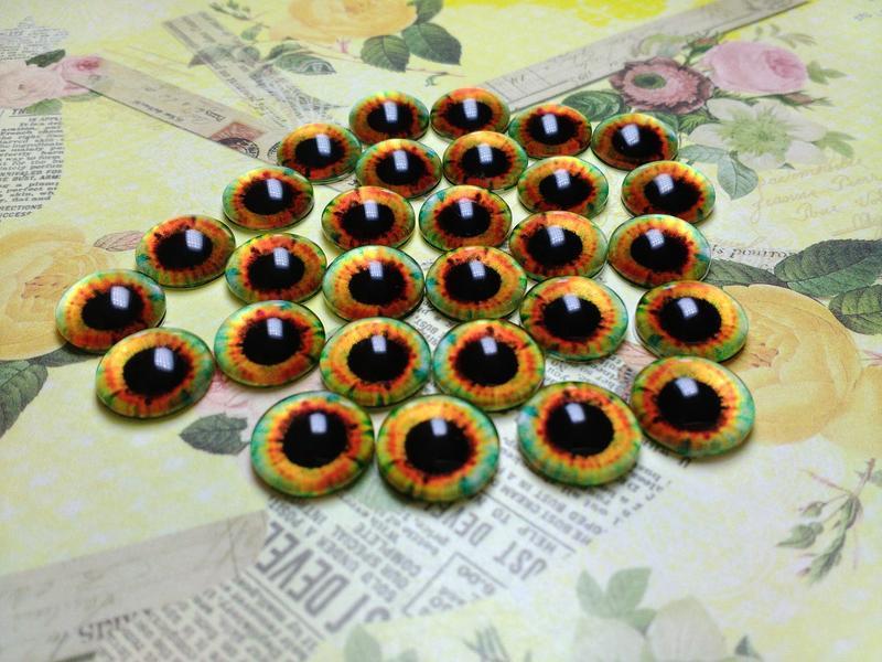 Глаза кабошоны 16 мм №68