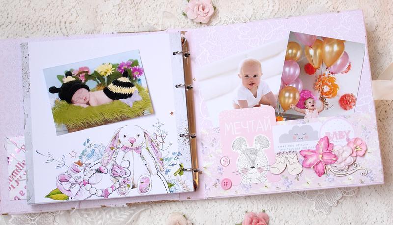 Фотоальбом для девочки , бебибук для девочки , мамин дневник