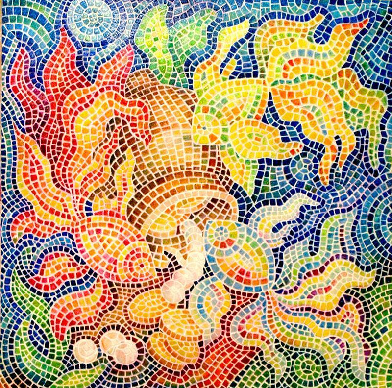 Мозаика Картина из мозаики Мозаичное панно Мозаика в ванную ...