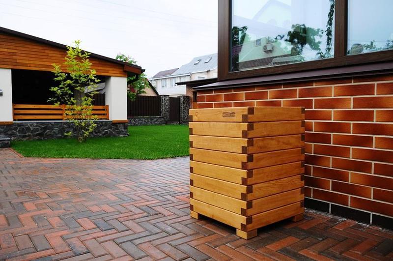 Деревянный ящик для цветов и растений, индивидуальные размеры и цвет