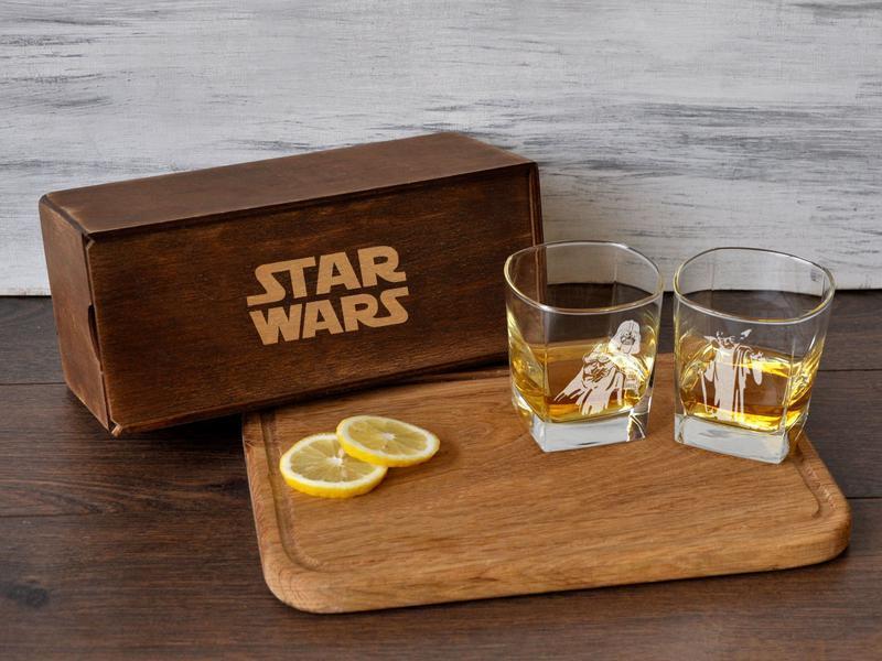 """Подарочный набор стаканов для виски с гравировкой """"Звездные войны"""""""