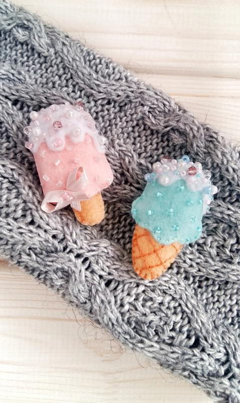 Брошка морозиво