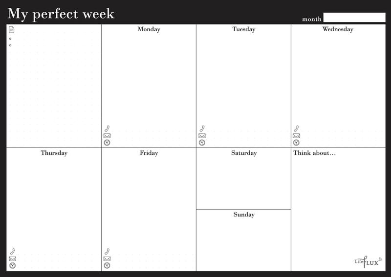 Еженедельник Weekly planner My perfect week Классик