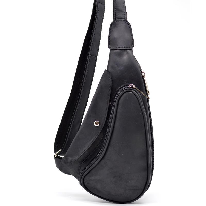66c88c3bbbaf Компактный кожаный рюкзак на одно плечо RA-3026-3md TARWA (черная лошадиная  кожа)