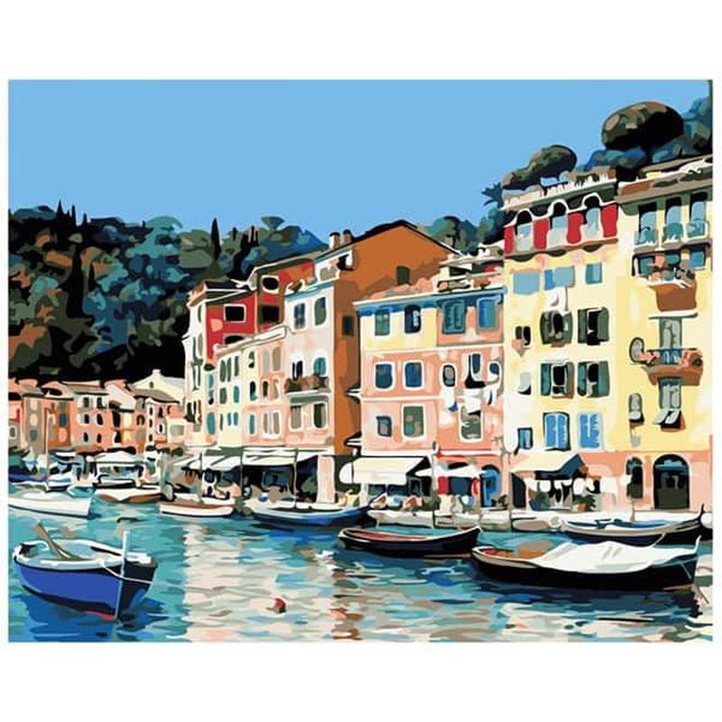 Набор для рисования по номерам Городок в Италии