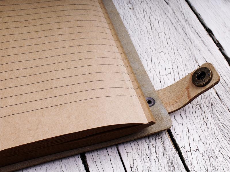 Кожаный блокнот с любым рисунком на заказ