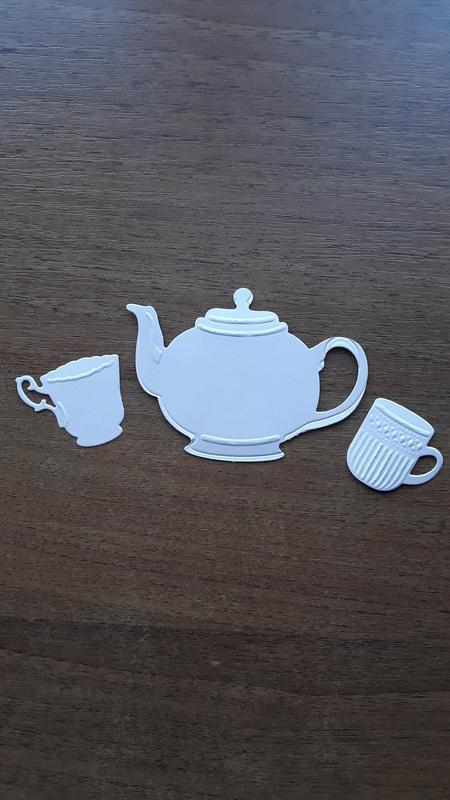 Набор вырубки для скрапбукинга Чашка с чайником, высечка для скрапбукинга