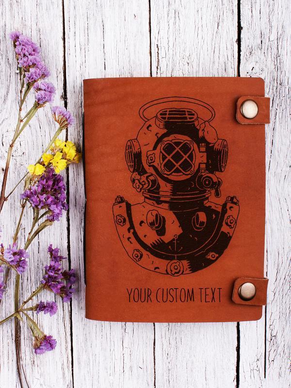 Кожаный блокнот с крафтовыми страницами