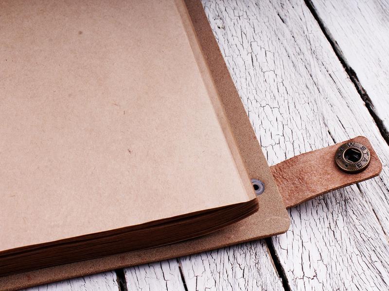 Блокнот кожаный с персональной гравировкой