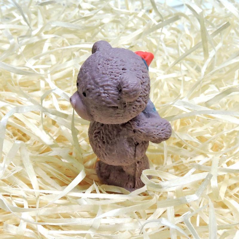 """Мыло """"Медвежонок с букетом"""" коричневое"""