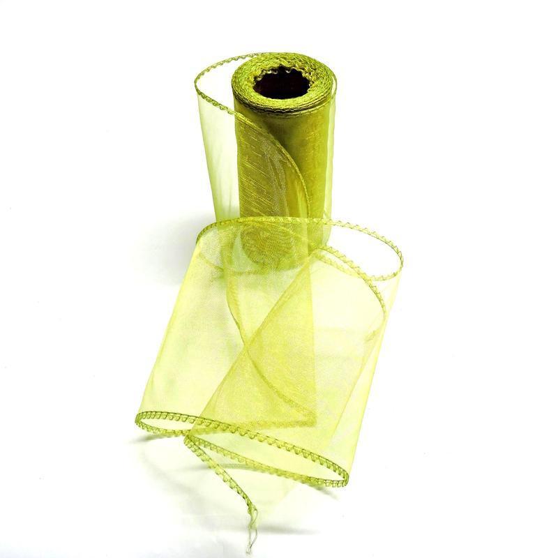 Органза 12см оливковая