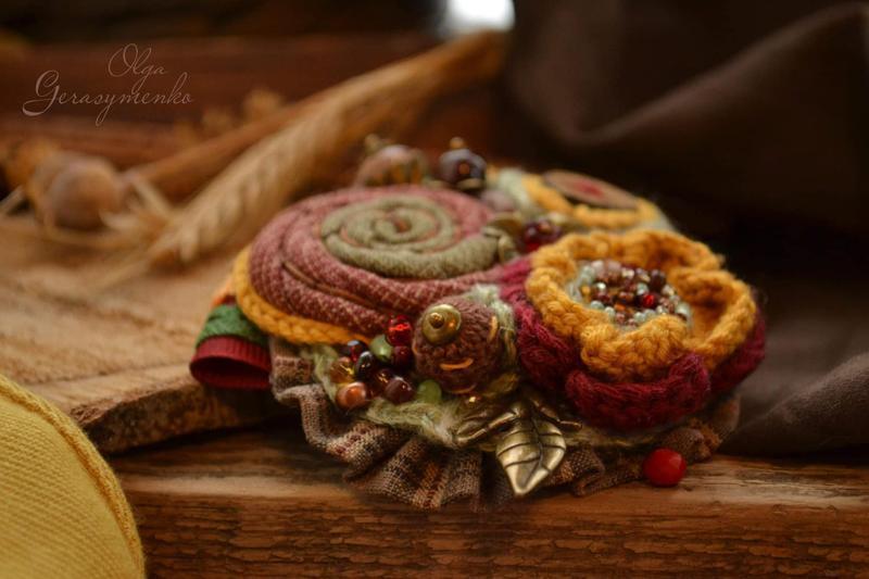Брошь ′Бархатная осень′