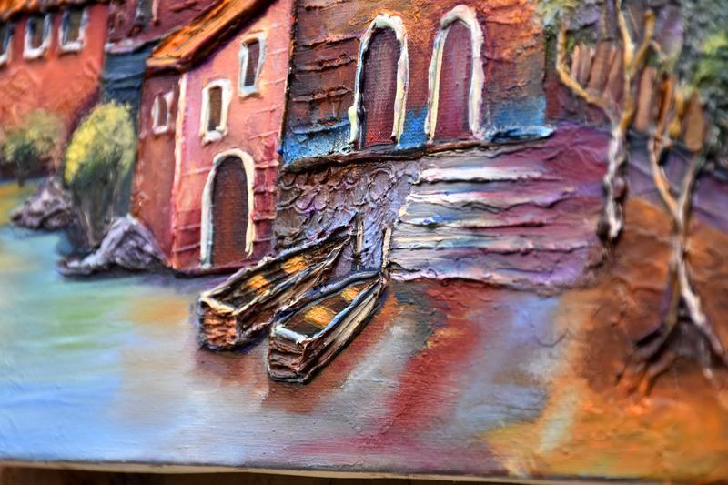 """Картина интерьерная """"Старый город"""", размер 30х40см"""