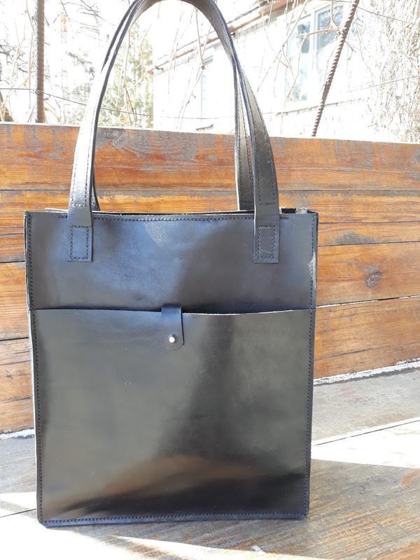 77ad7225d9ee Кожаная женская сумка-шоппер ручной работы купить в Украине. №420504