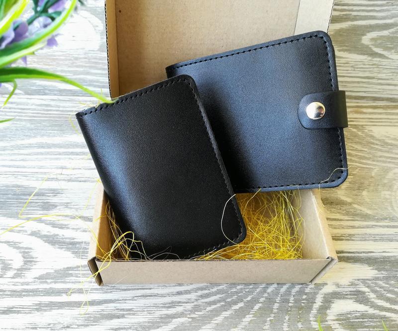1d7ca443bf71 Подарочный набор черный мужской (2 предмета) ручной работы купить в ...