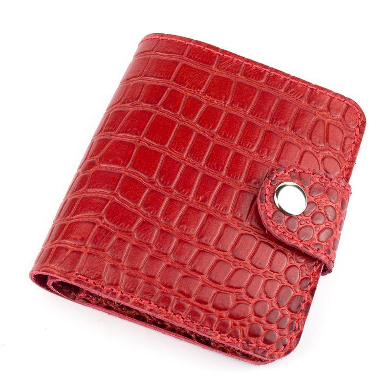 e35a5a076365 Женский кожаный кошелек София (красный крокодил) ручной работы ...