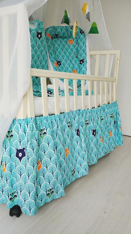 Юбка в кроватку Bears&Foxes