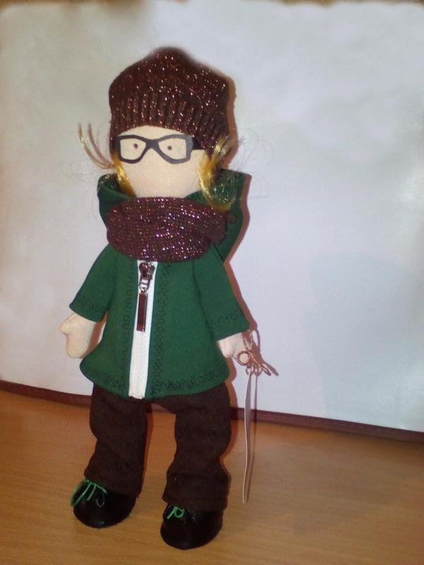 """Кукла в стиле Снежка"""" Михей"""" интерьерная игрушка ручной работы"""