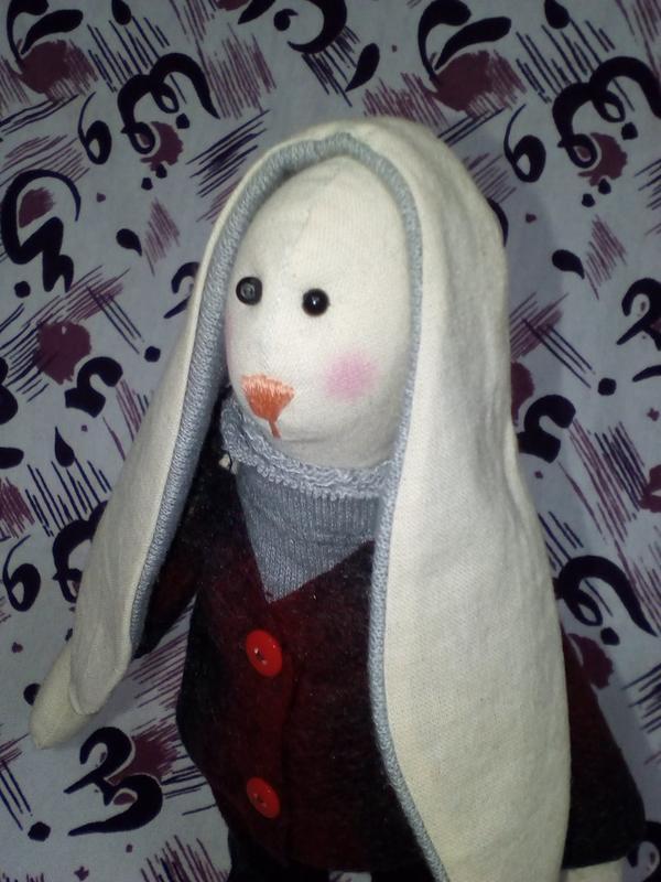 """Зайчик Тильда """" Зайчик не замерзайчик """" інтер'єрні іграшки ручної роботи"""