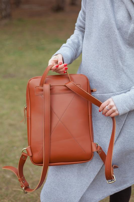Кожаный рюкзак для ноутбука