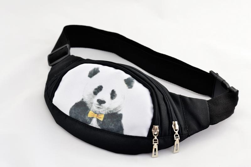 Крутая ;) поясная сумка с принтом