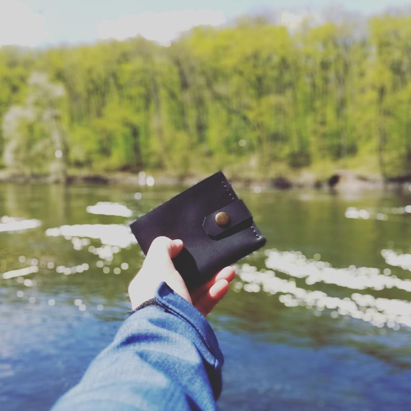 Кожаный кошелек Mini от mod™😎👍 гаманець, портмоне унисекс
