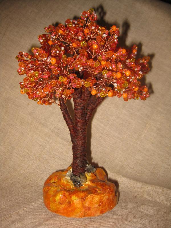 """Бісерне дерево """"Фарби осені"""""""