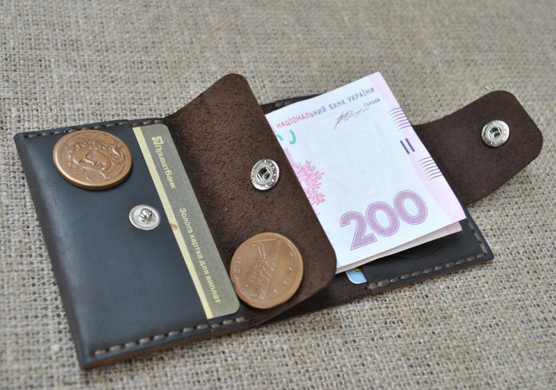 Компактный кожаный кошелек K71-450