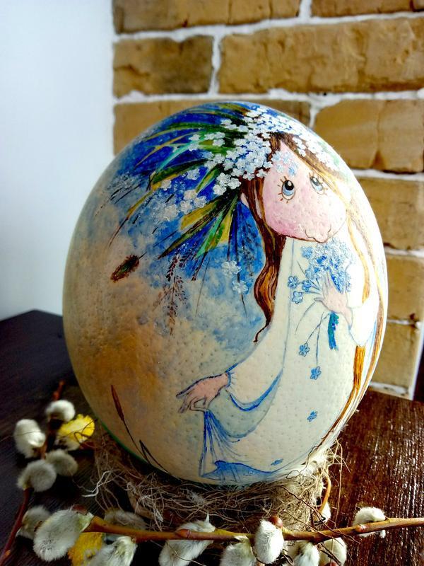 Сувенірна писанка зі страусиного яйця