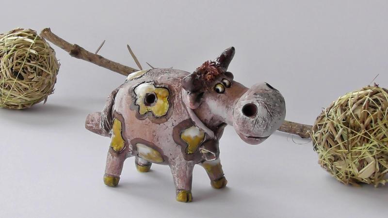 Свистулька корова Буренушка
