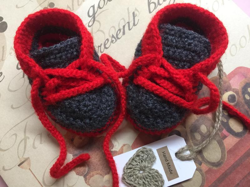 Пинетки ботинки для малышей 10 см
