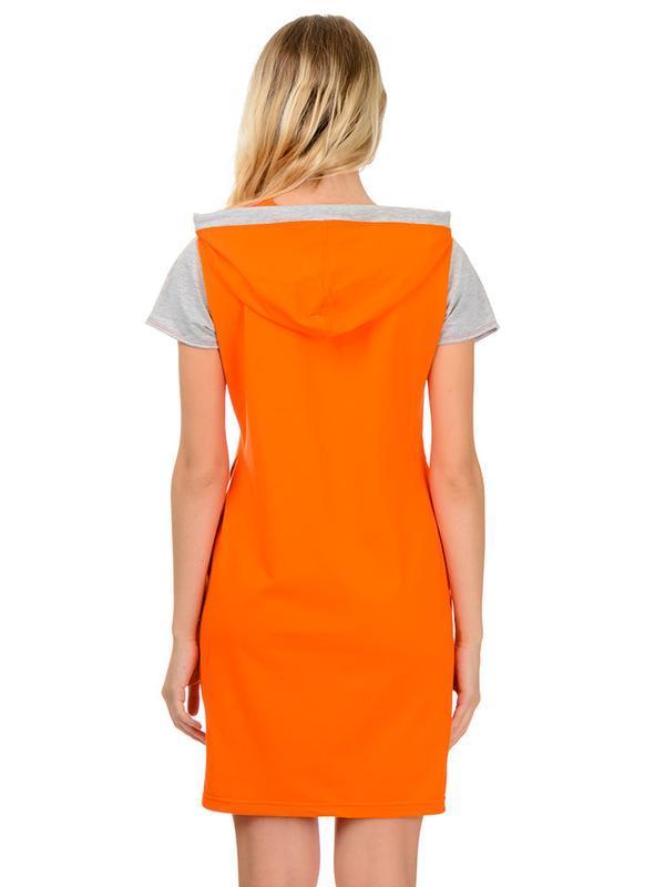 Жіноча сукня з каптуром Artystuff помаранчева