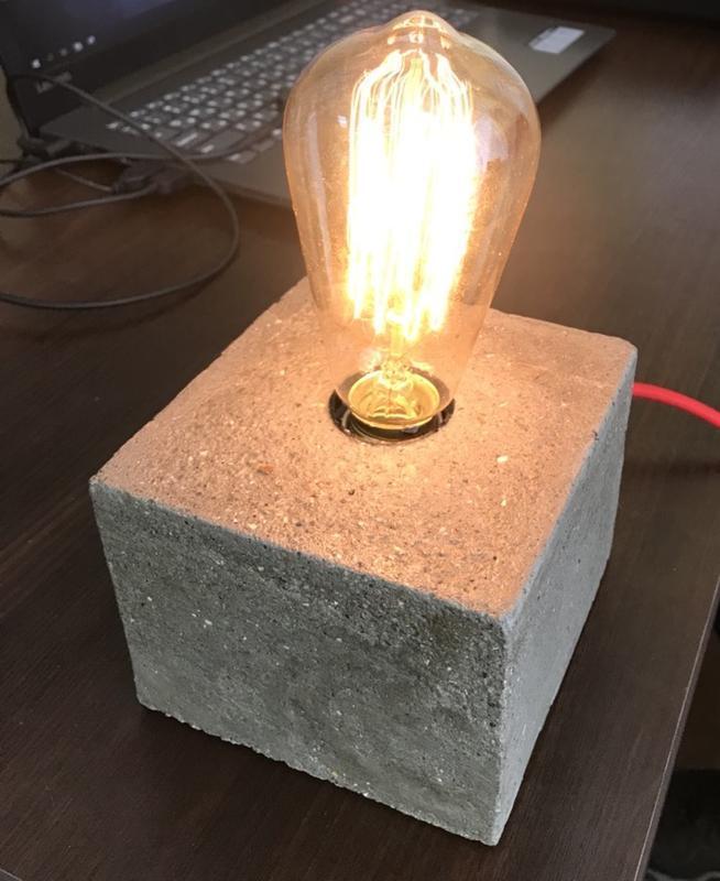Лампа из бетона купить как оштукатурить стену цементным раствором по маякам