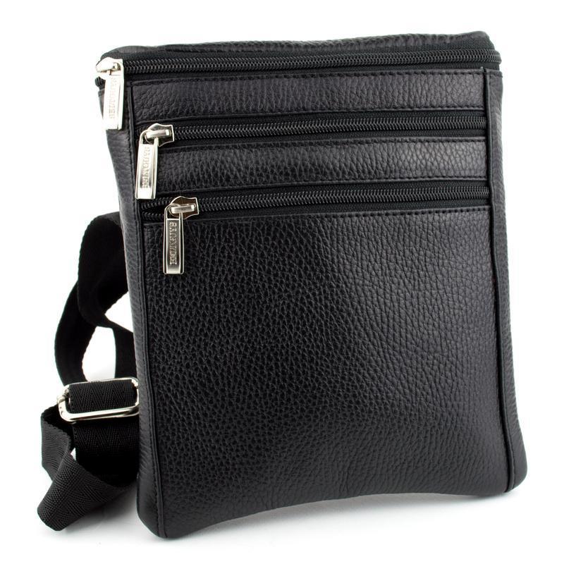 bd5807683a9f Мужская кожаная сумка мини Crez-501 (черный флотар) ручной работы ...