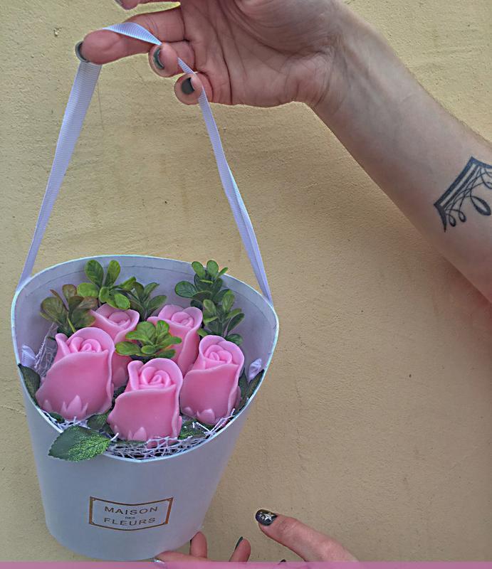 Букет из мыльних роз