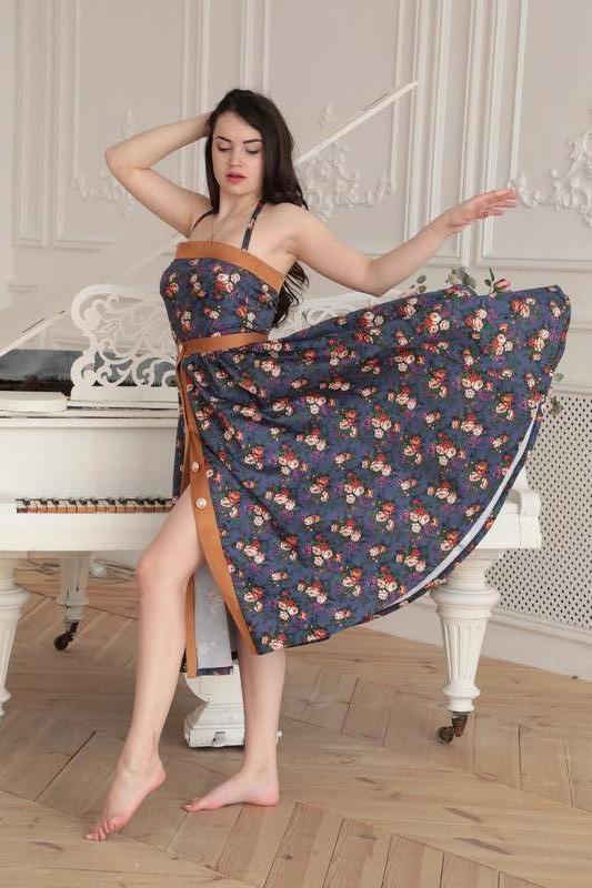 Комбинезон и юбка-солнце из натурального хлопка
