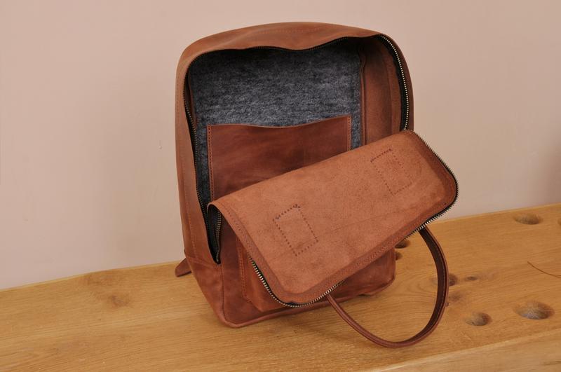 Кожаный рюкзак Крис