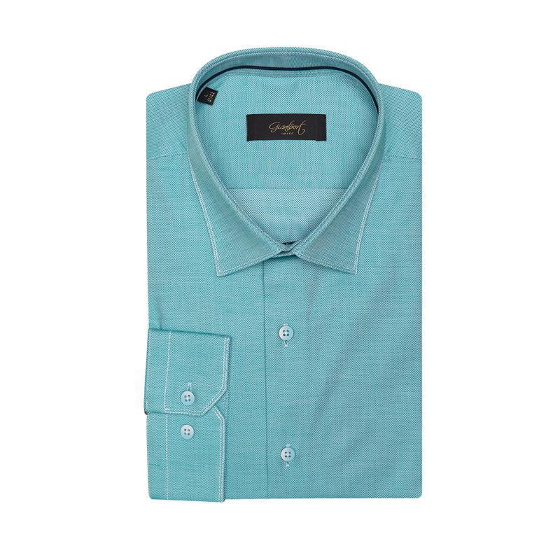 Рубашка приталенная бирюзовая 410-001