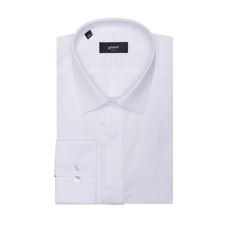 Рубашка приталенная белая 310-002